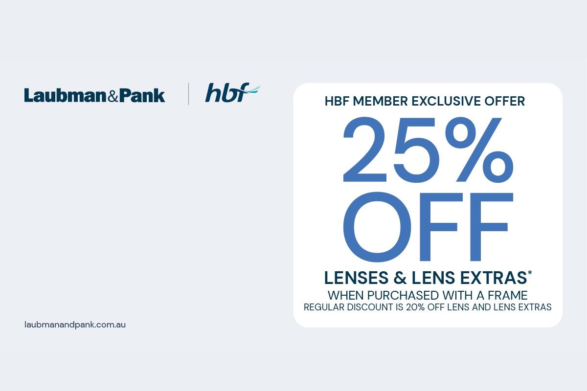 HBF Member Offer at Laubman & Pank